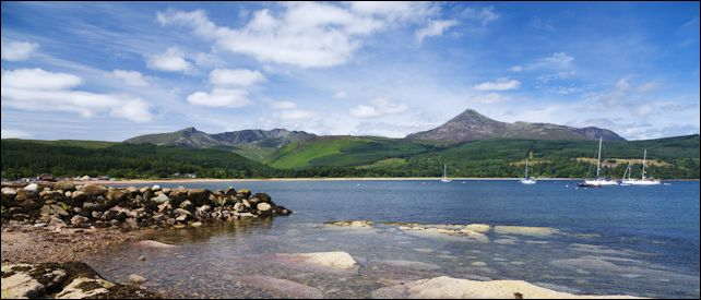 Brodick Bay & Goatfell, Arran, Scotland