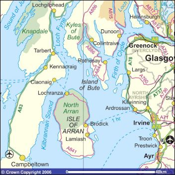 Map of Argyll & Arran