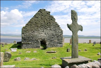 Kilnave church and Celtic cross, Isle of Islay