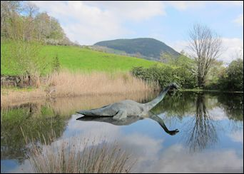 Nessie at the Loch Ness Centre and Exhibition, Scotland