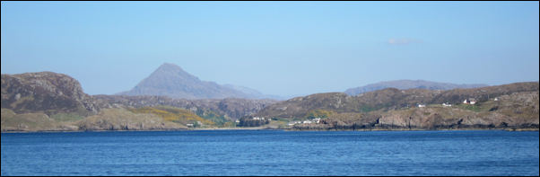Eddrachillis from the sea near Scourie